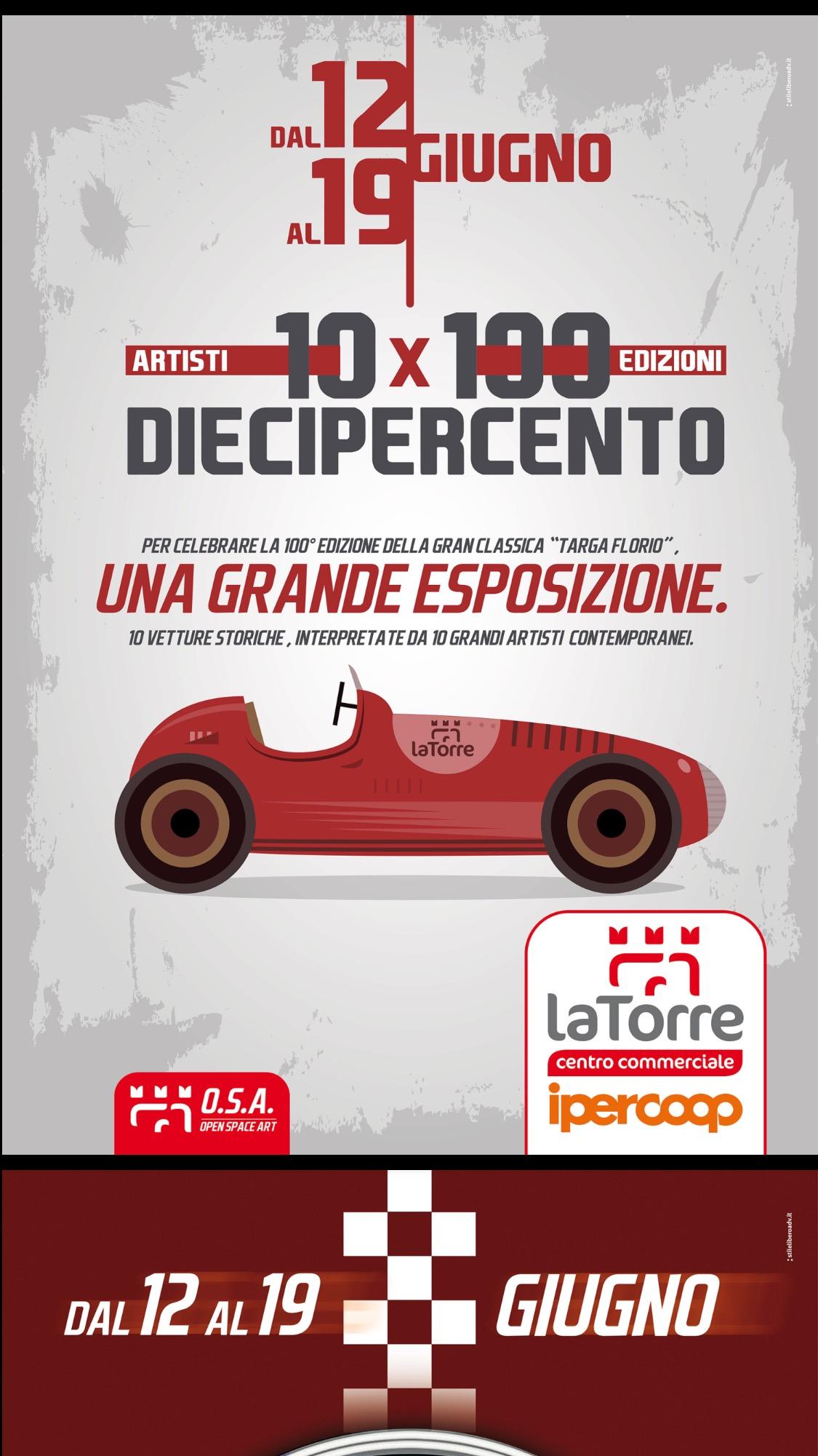 DIECIPERCENTO: 10 Artisti per 100 Edizioni